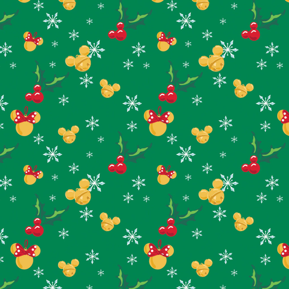 Mickey and Minnie Jingle Bells Quilting Cotton