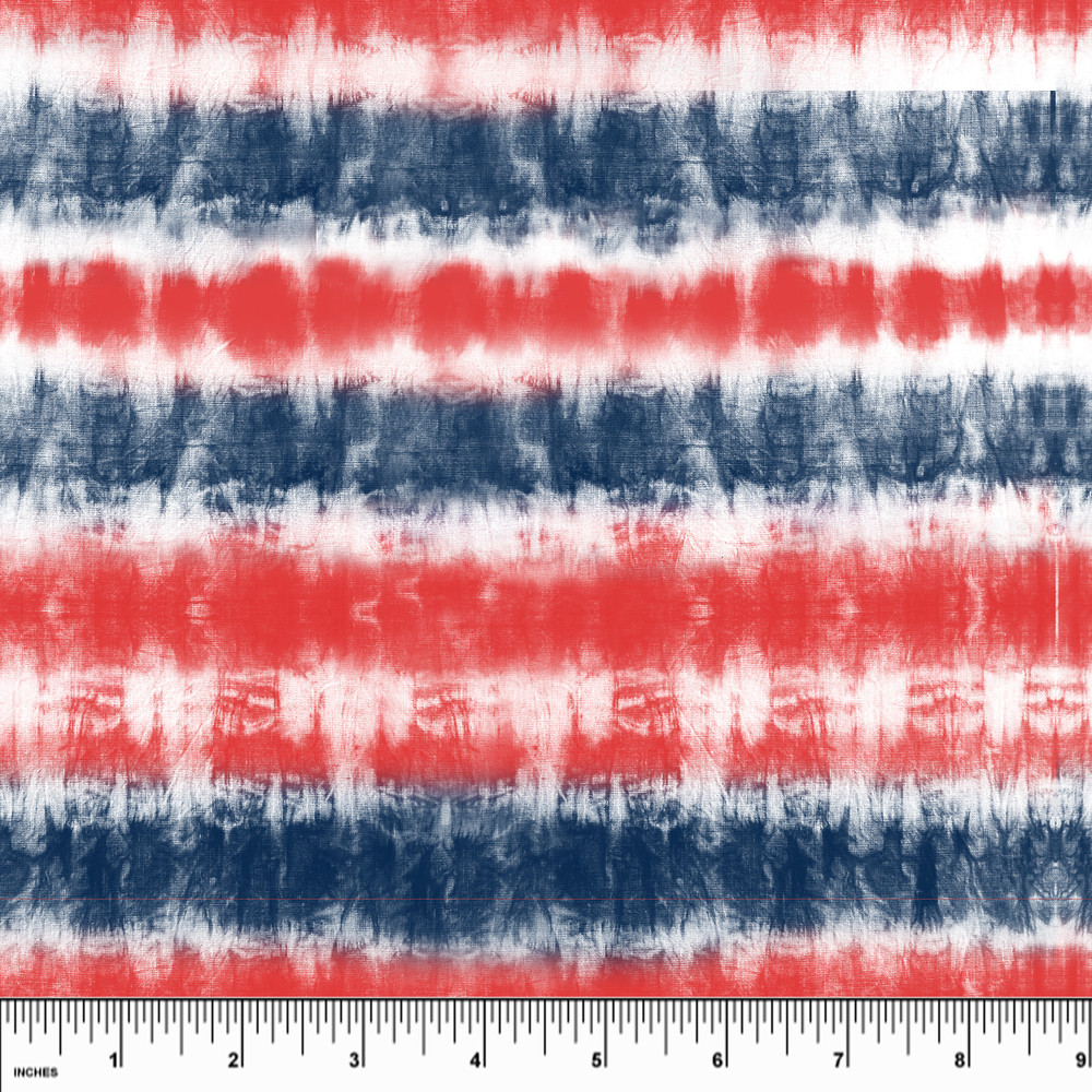 Custom Patriotic Tie Dye Cotton Lycra Knit