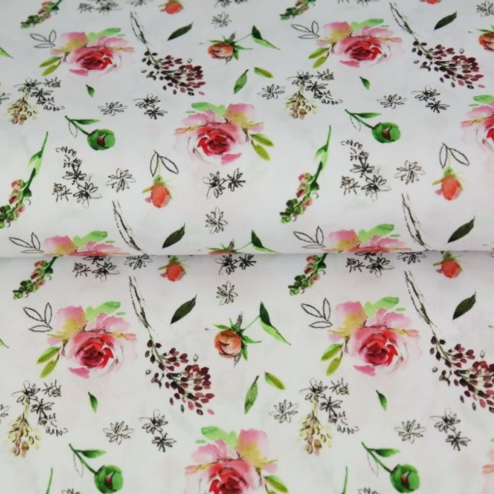 Spring Blossoms Cotton Lycra