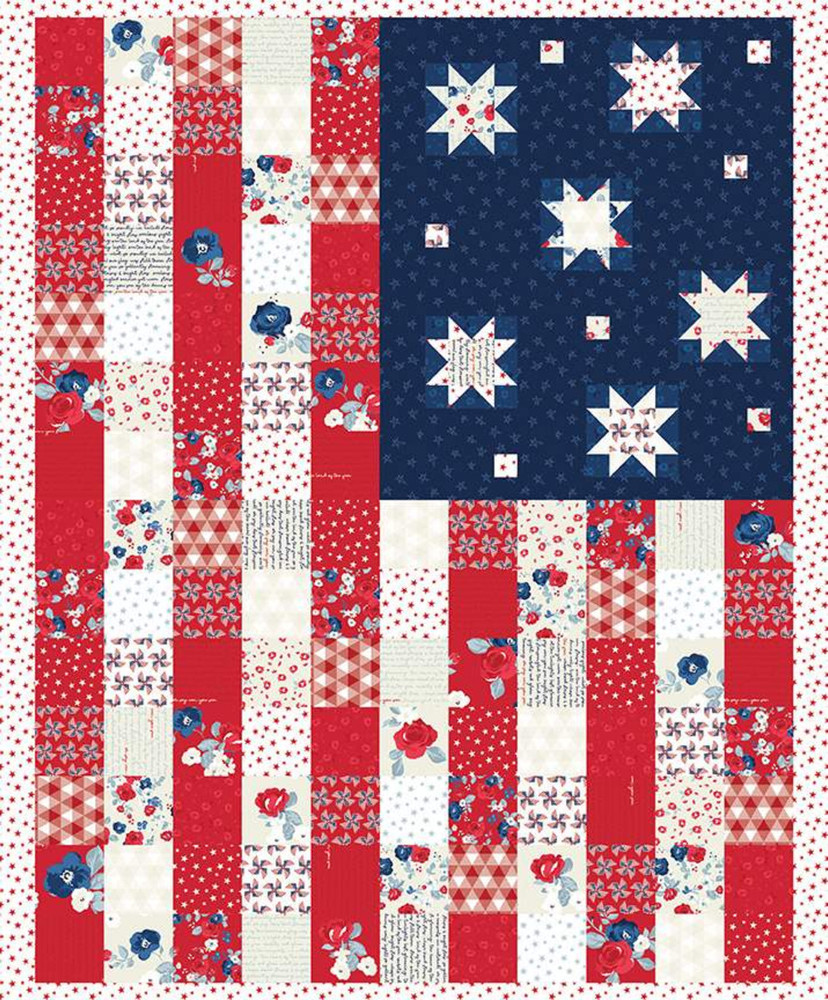 "Riley Blake Land of Liberty 36"" Flag Panel"
