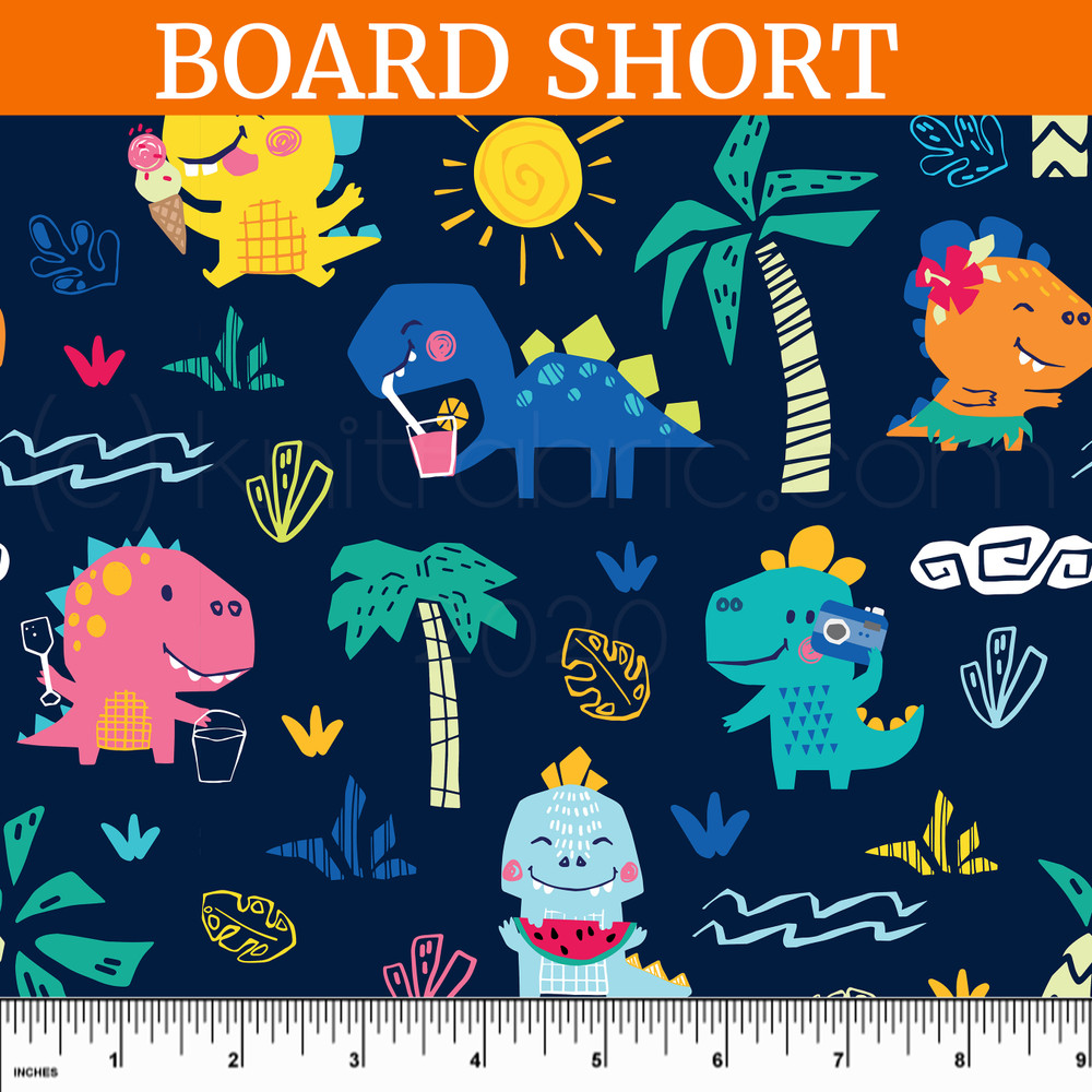 Custom Dino Beach UV 50+ Board Short