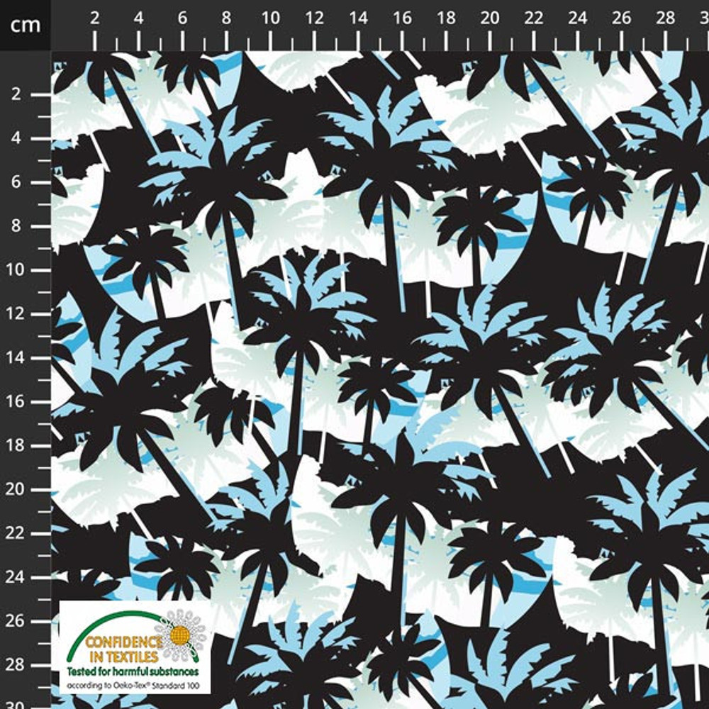 Stof Fabrics Palm Trees on French Terry Knit