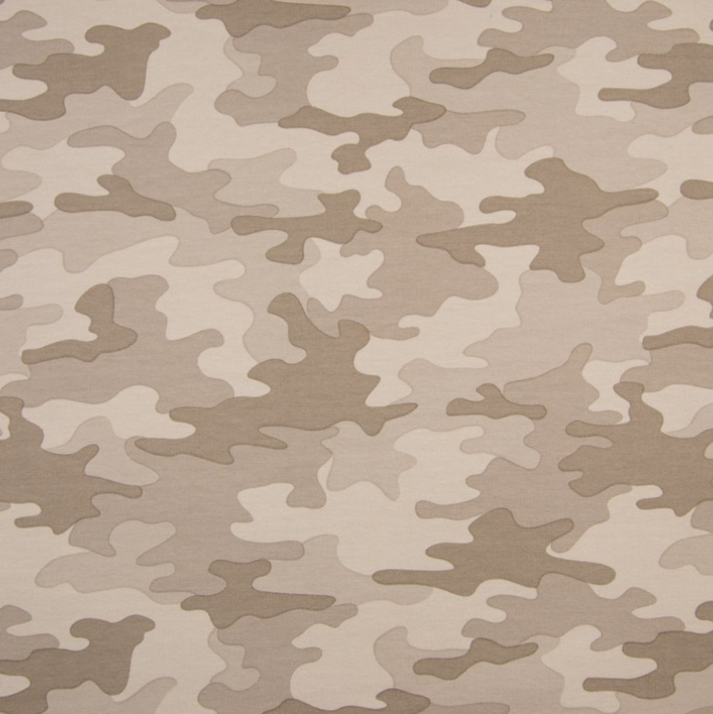 Sand Camouflage on French Terry Knit