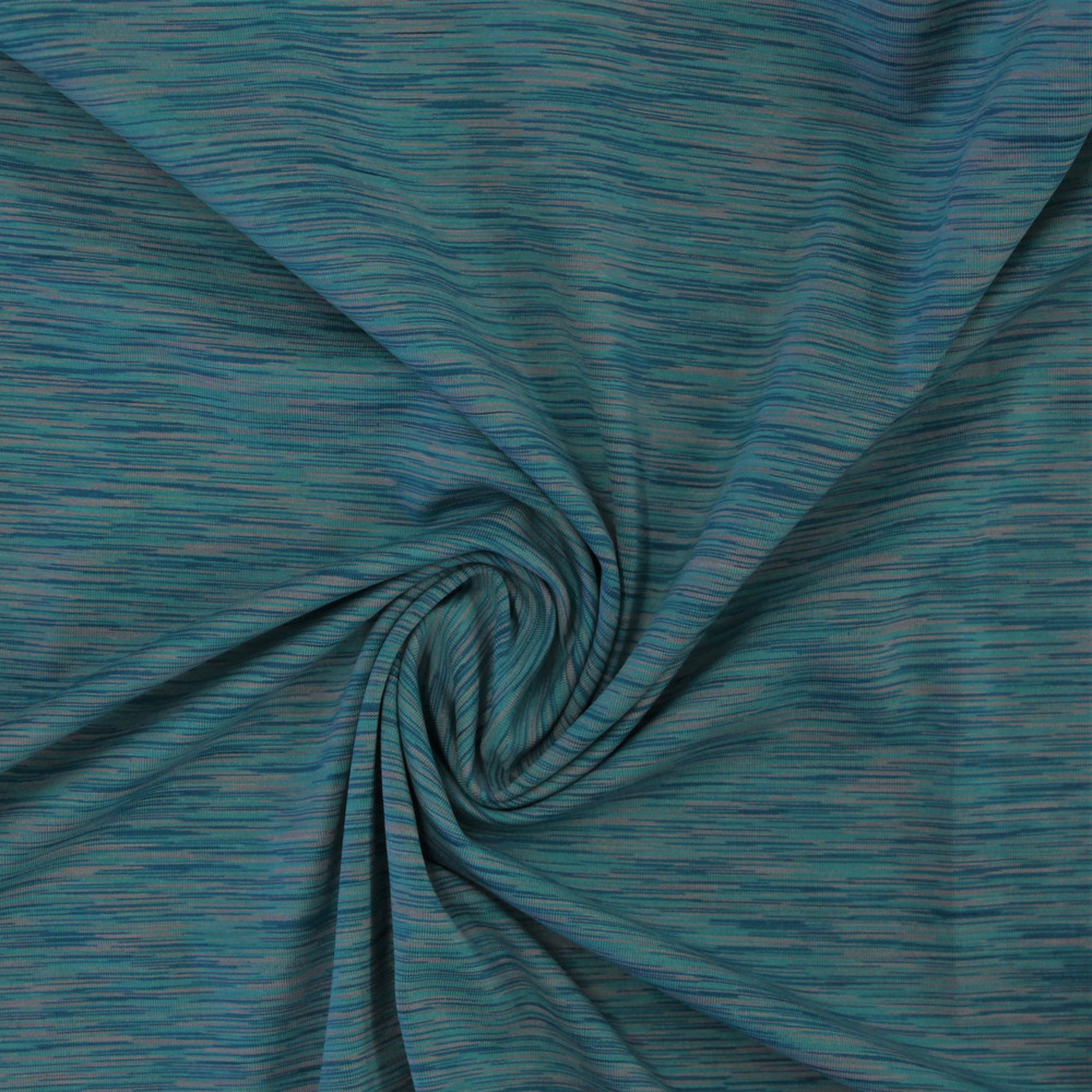 Turquoise & Light Gray Strata Athletic Knit