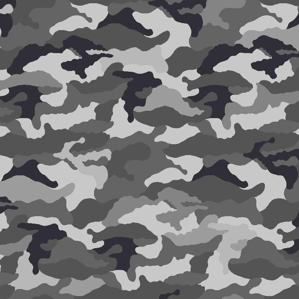 Camouflage in Gray Cotton Lycra Knit
