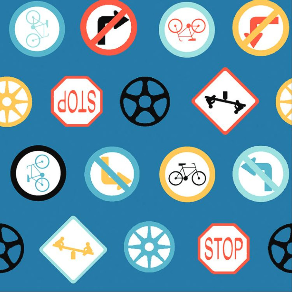 Stof France Traffic Signs Cotton Lycra