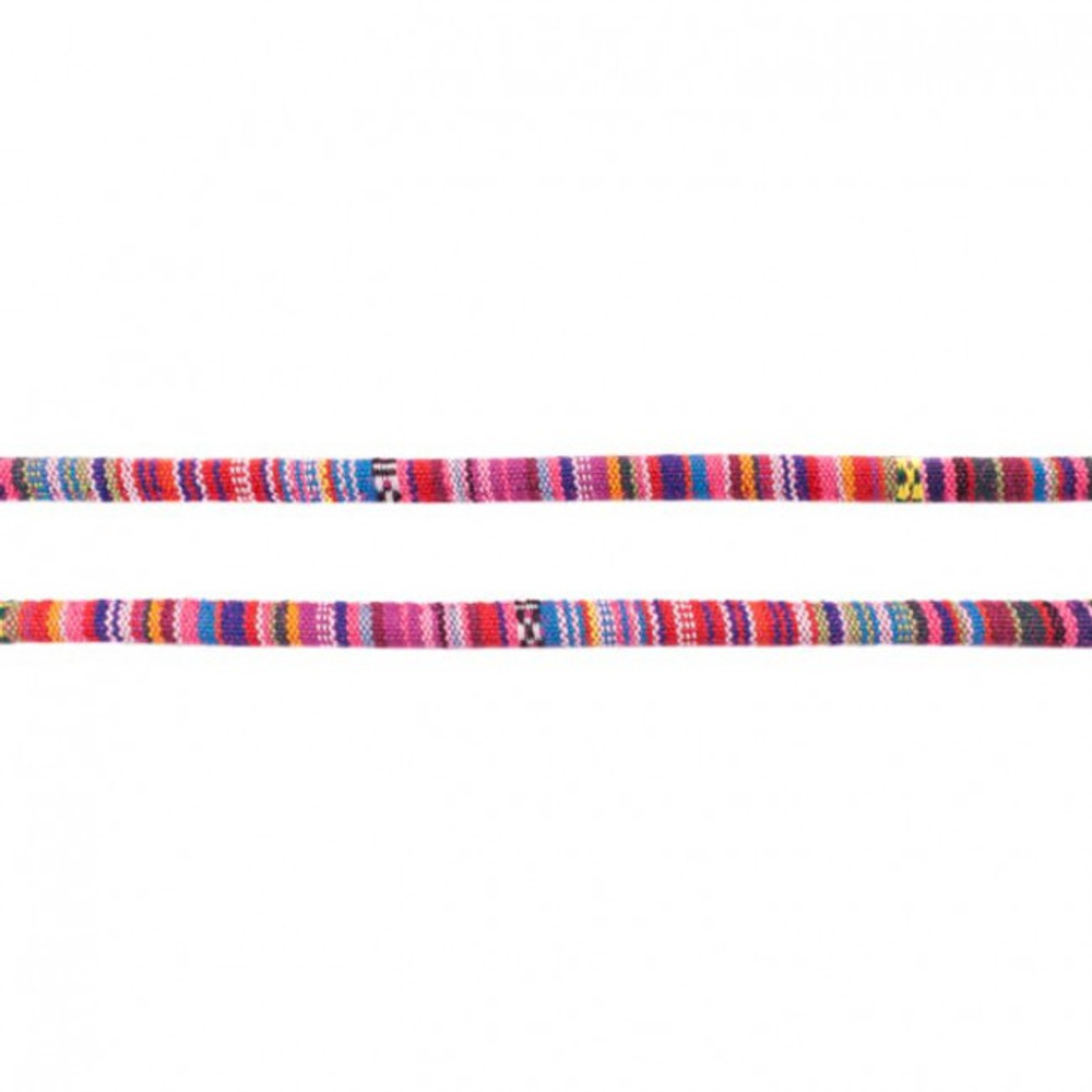 Fuchsia Aztec 7mm Cord - Sold by the Yard