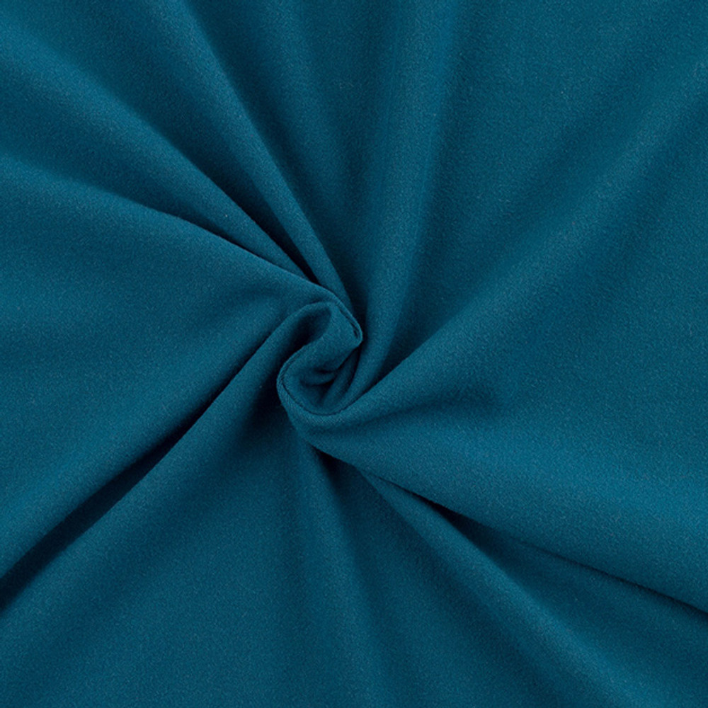 Teal Double Brushed Poly