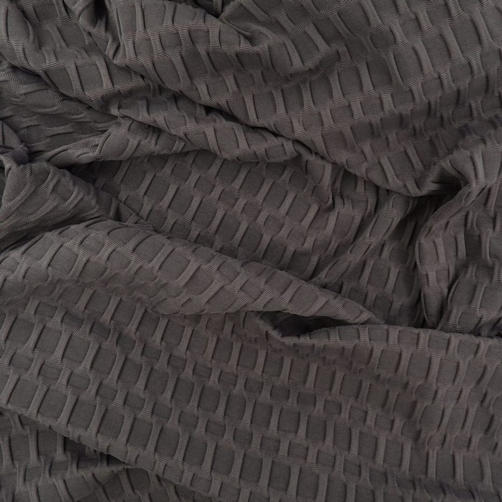 Charcoal Honeycomb Athletic Knit
