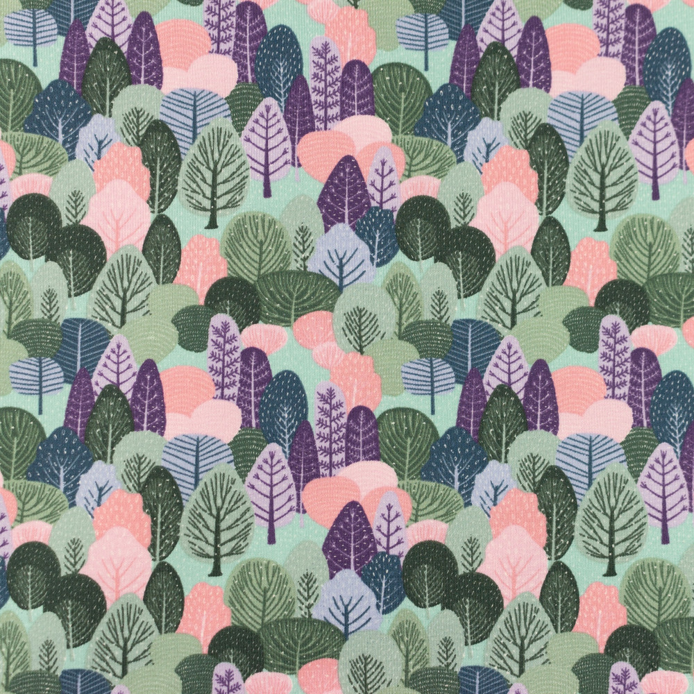 Enchanted Forest Cotton Lycra Knit