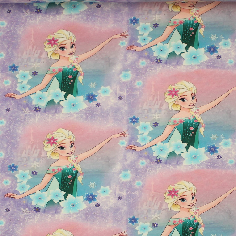 Elsa Frozen Fever French Terry Knit