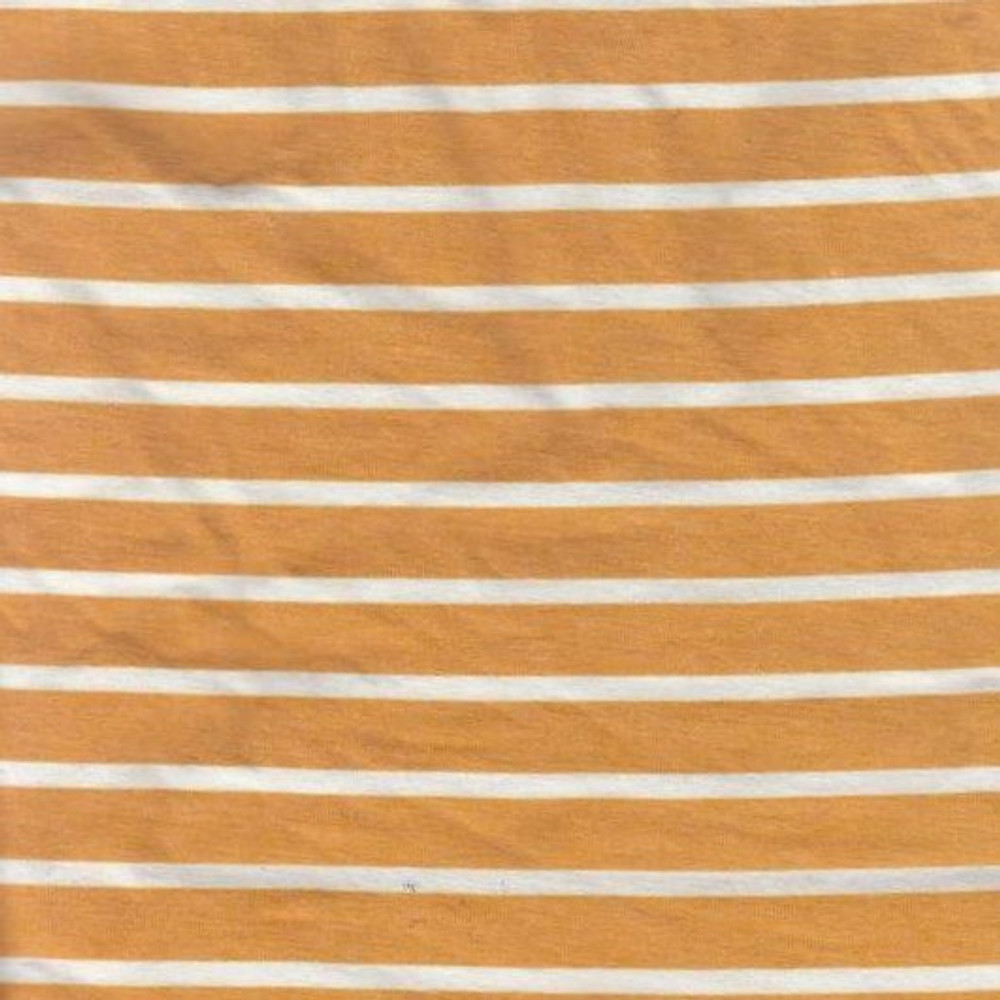 Mustard & Ivory Stripes French Terry Knit