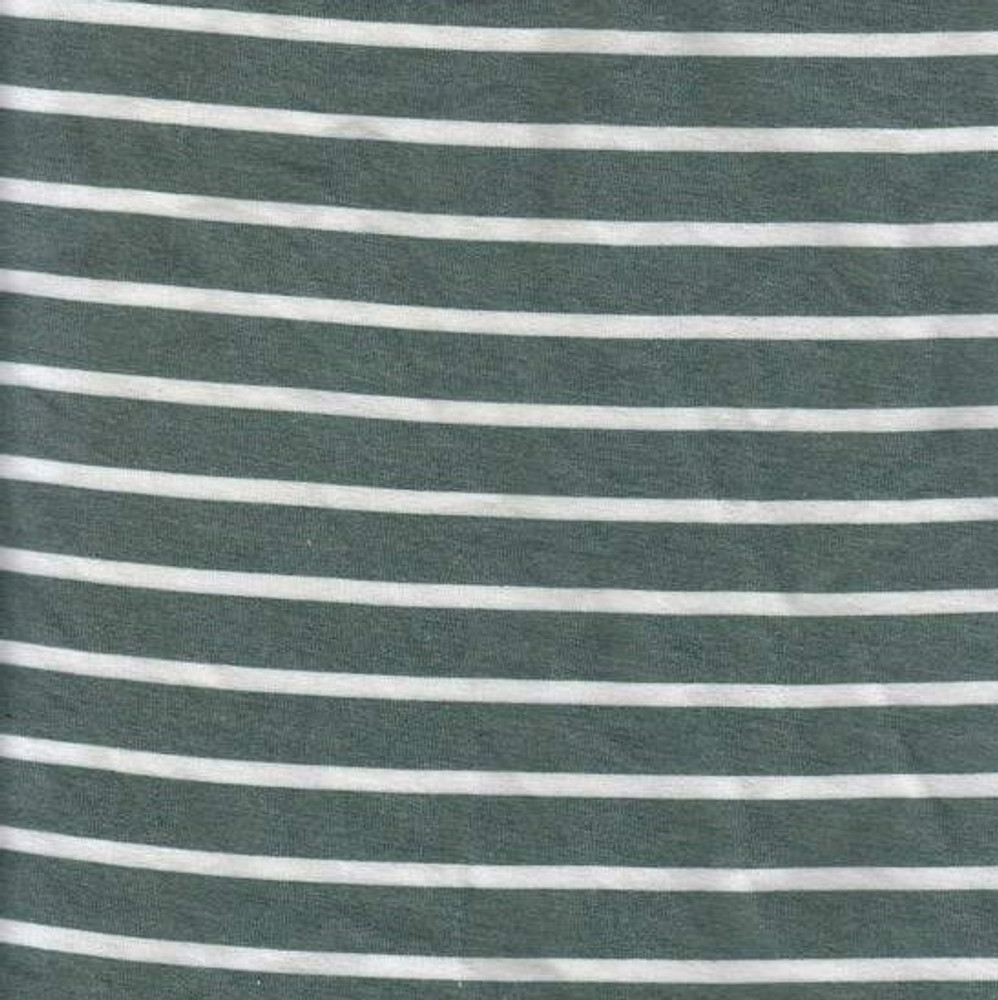 Hunter & Ivory Stripes Rayon French Terry Knit