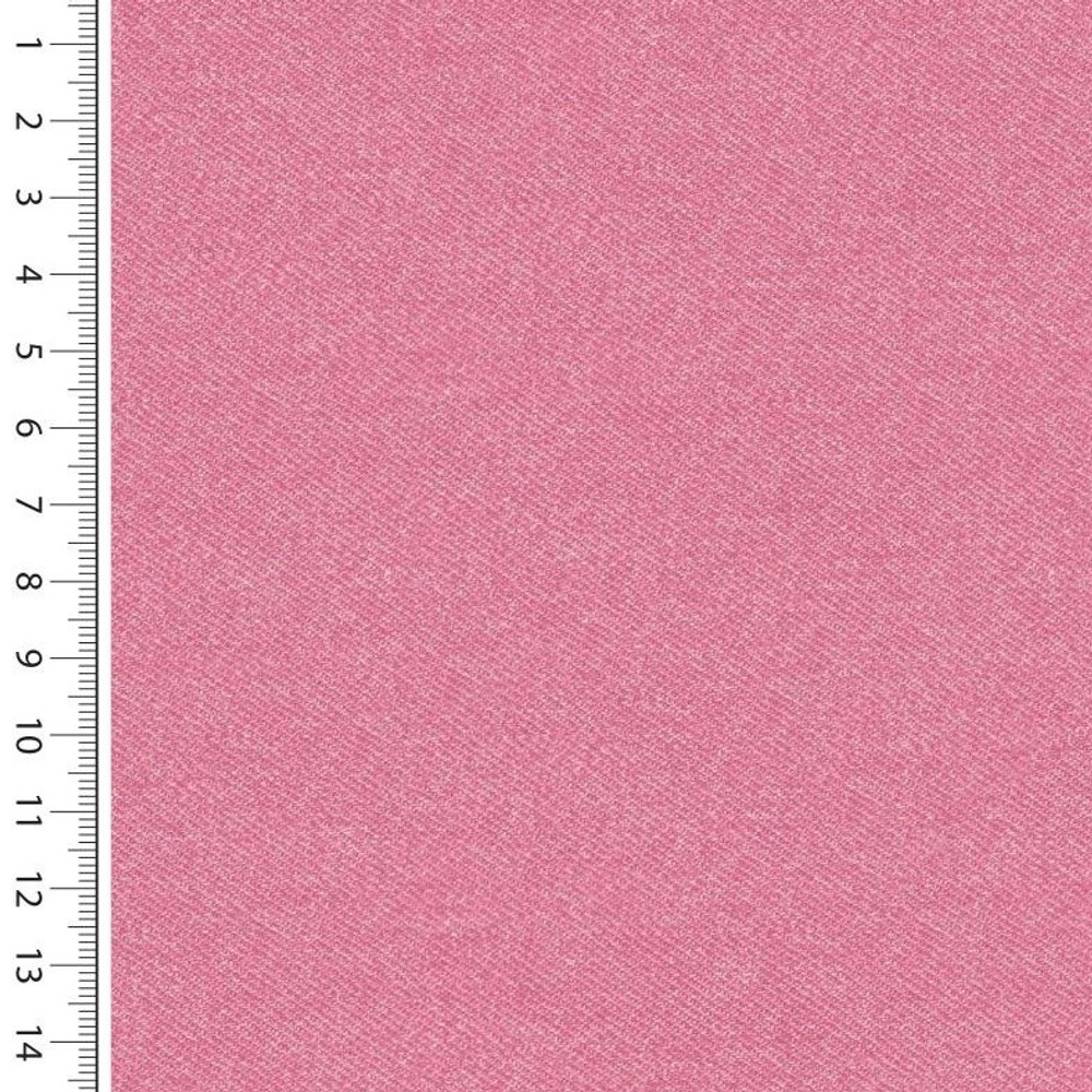 Pink Faux Denim French Terry