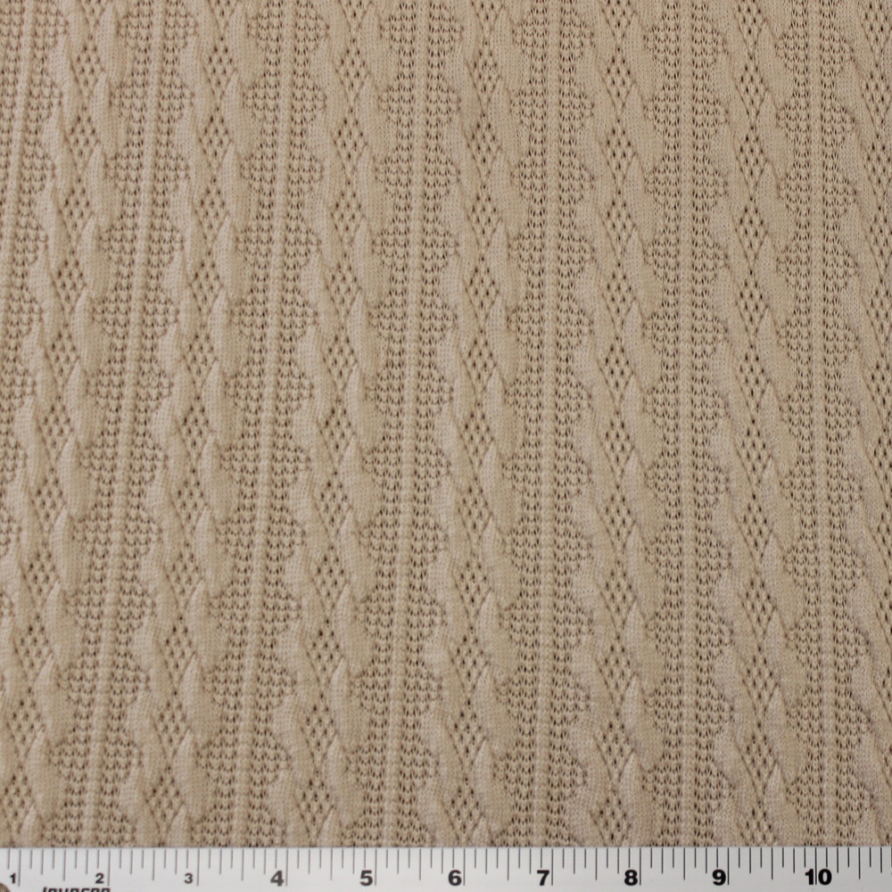 Sand Cable Sweater Knit