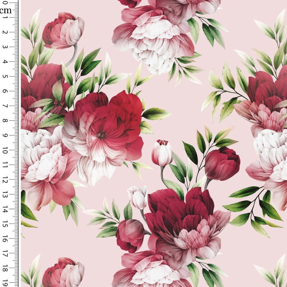 Enchanted Floral on Pink Cotton Lycra
