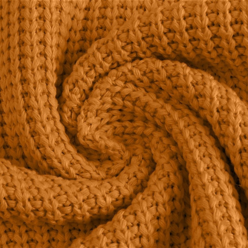 Mustard Cotton Knitted