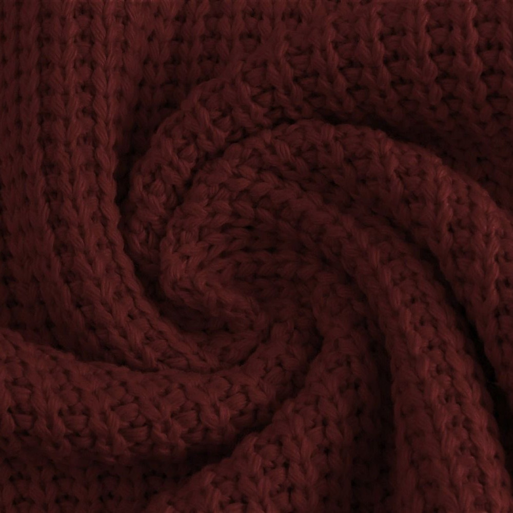 Wine Cotton Knitted