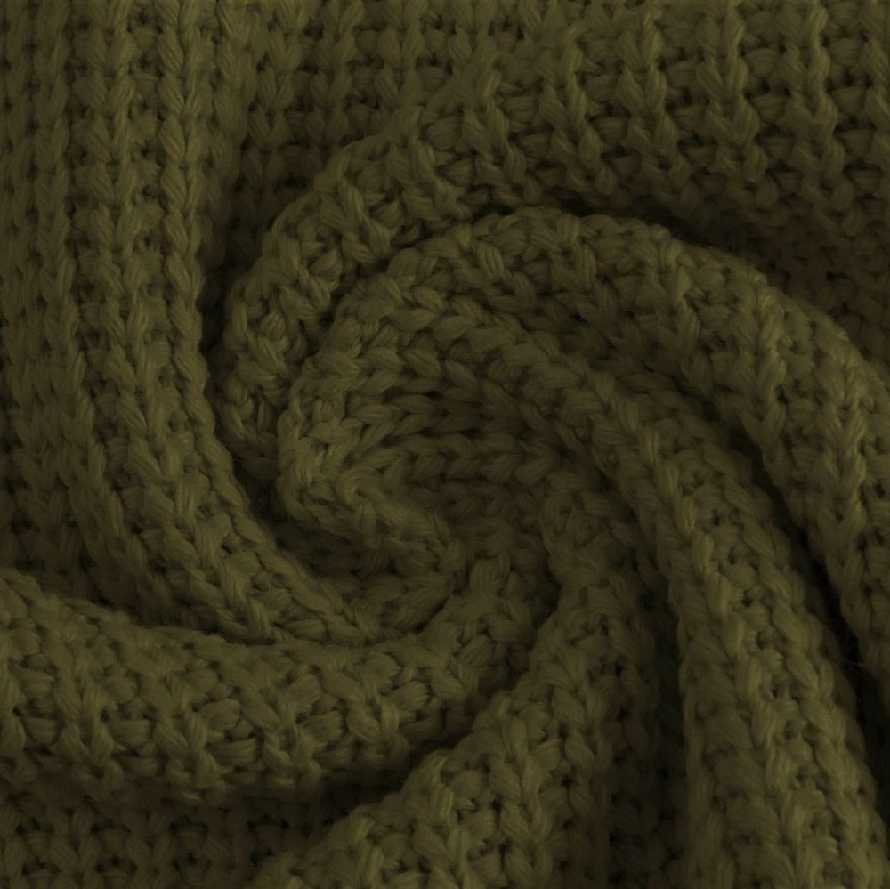 Army Green Cotton Knitted