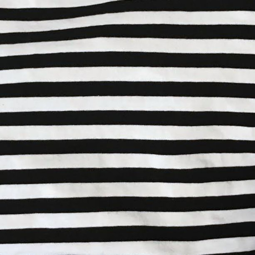 Black and White yarn dyed knit