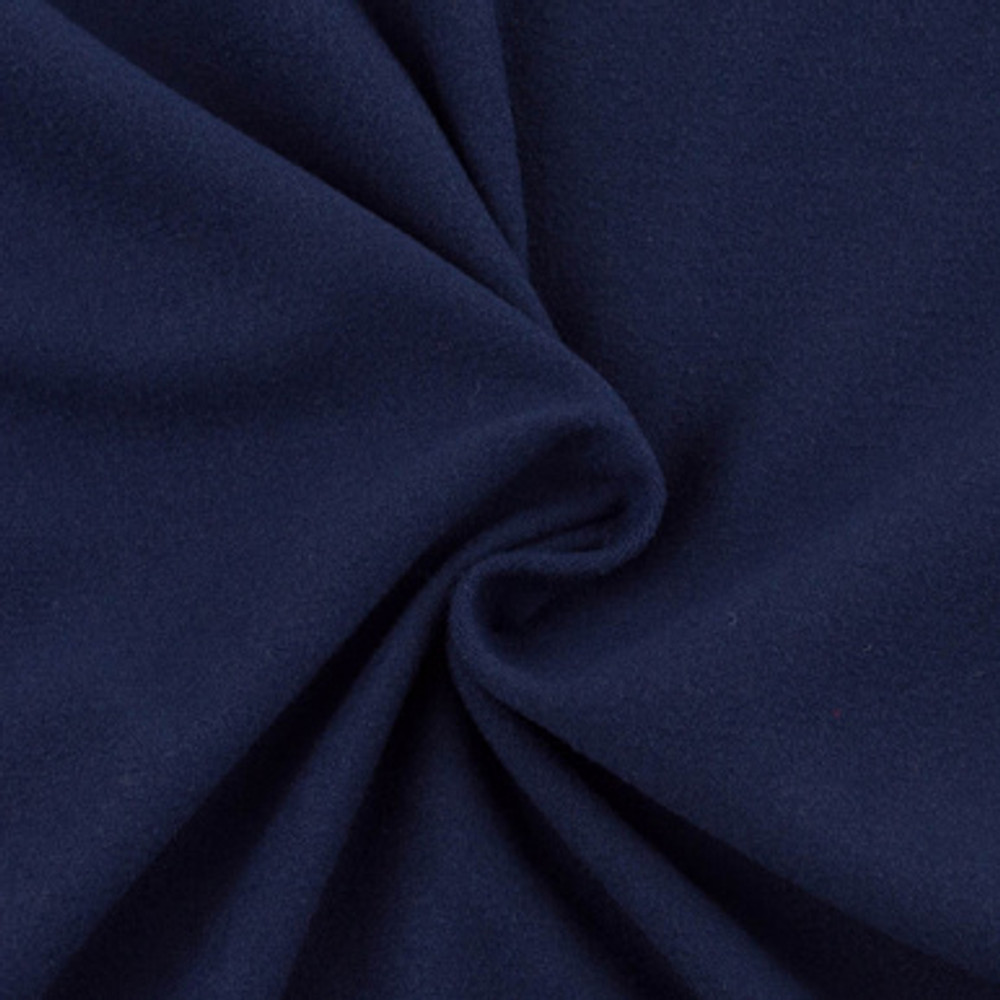 Navy double brushed poly knit
