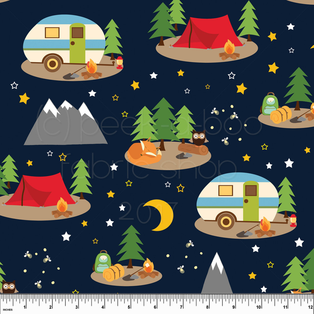 Campout knit fabric