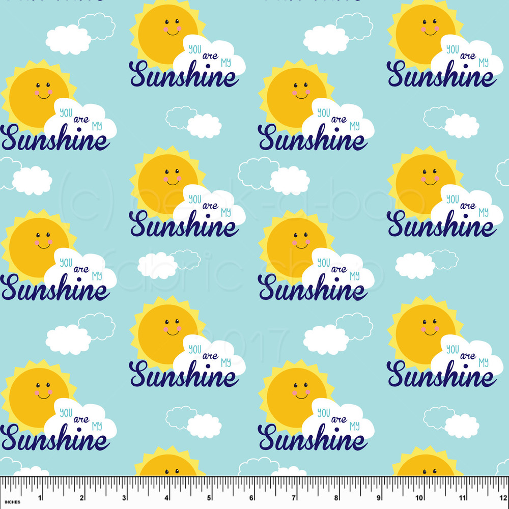 you are my sunshine knit fabric