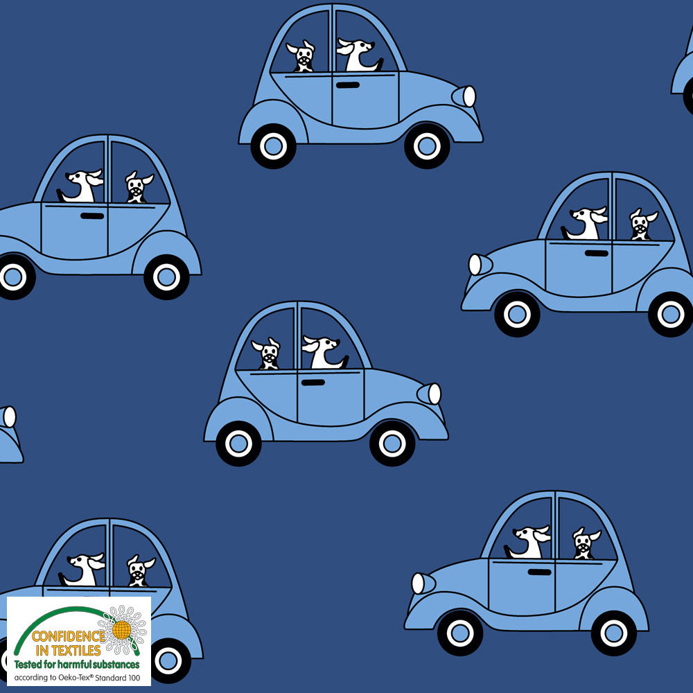 cars french terry