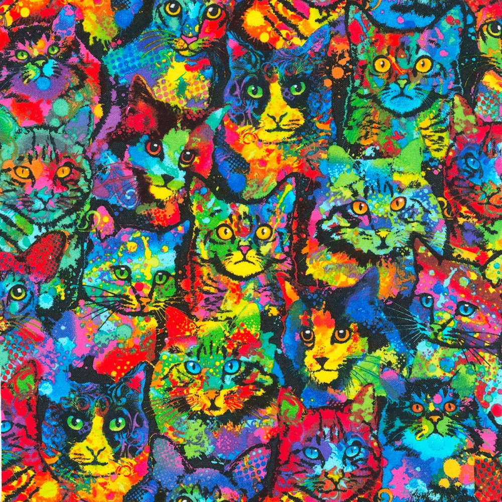 painted cats knit