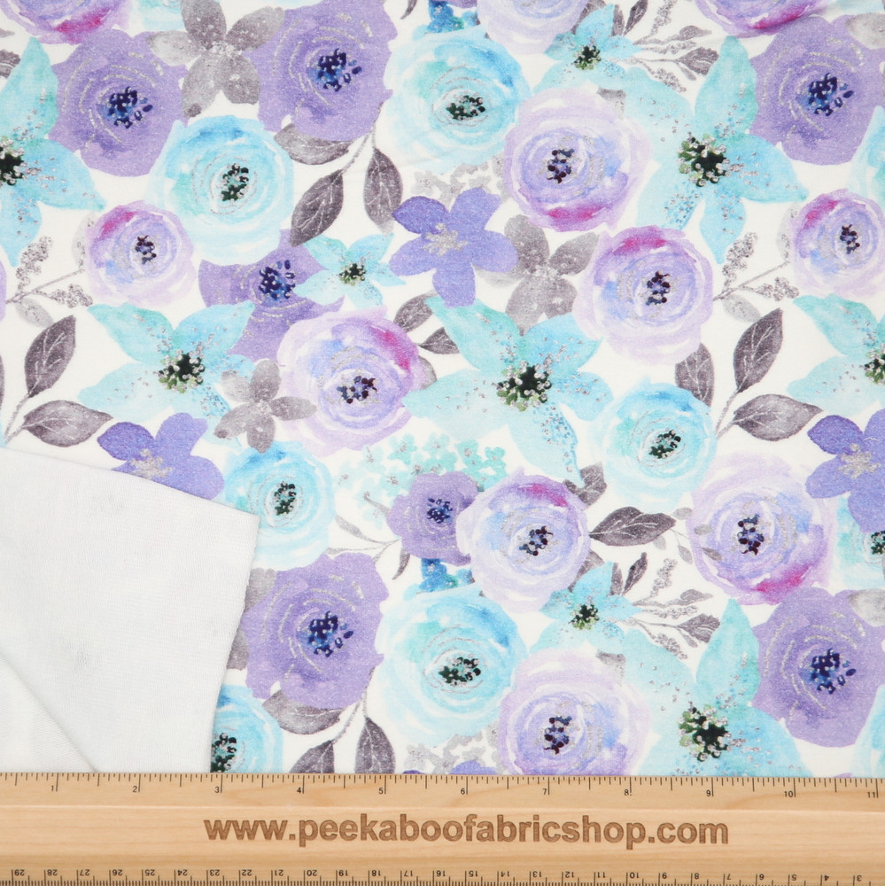 winter floral french terry