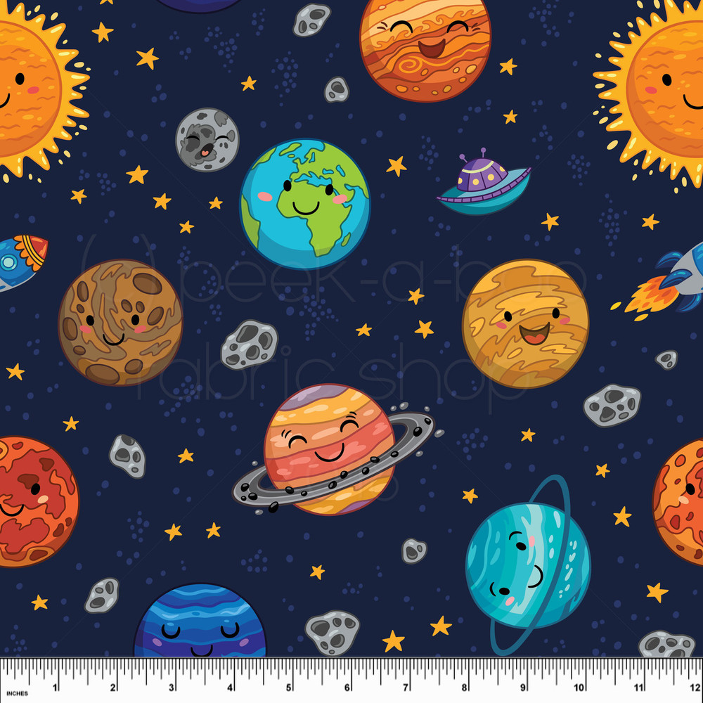 Outer space knit fabric