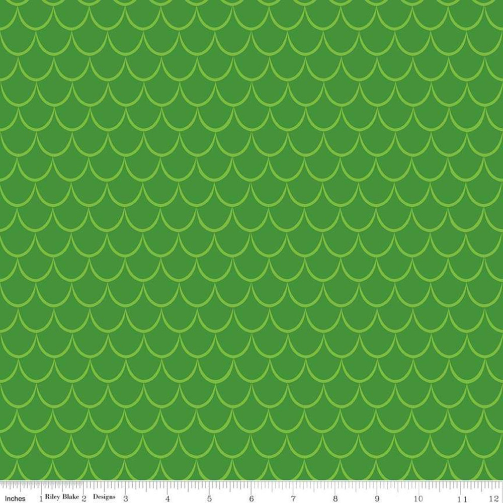 dragon scales in green