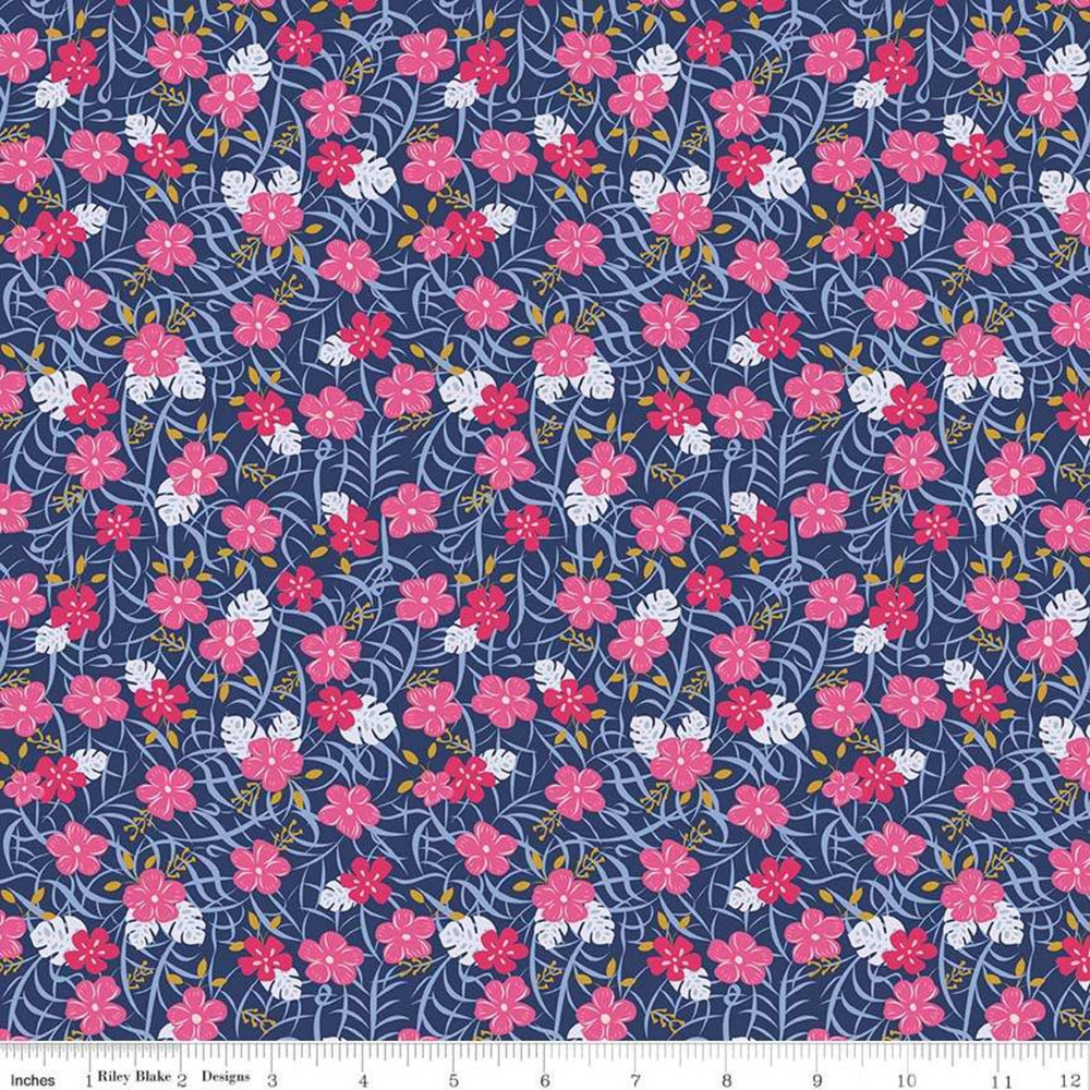 sparkle floral in navy