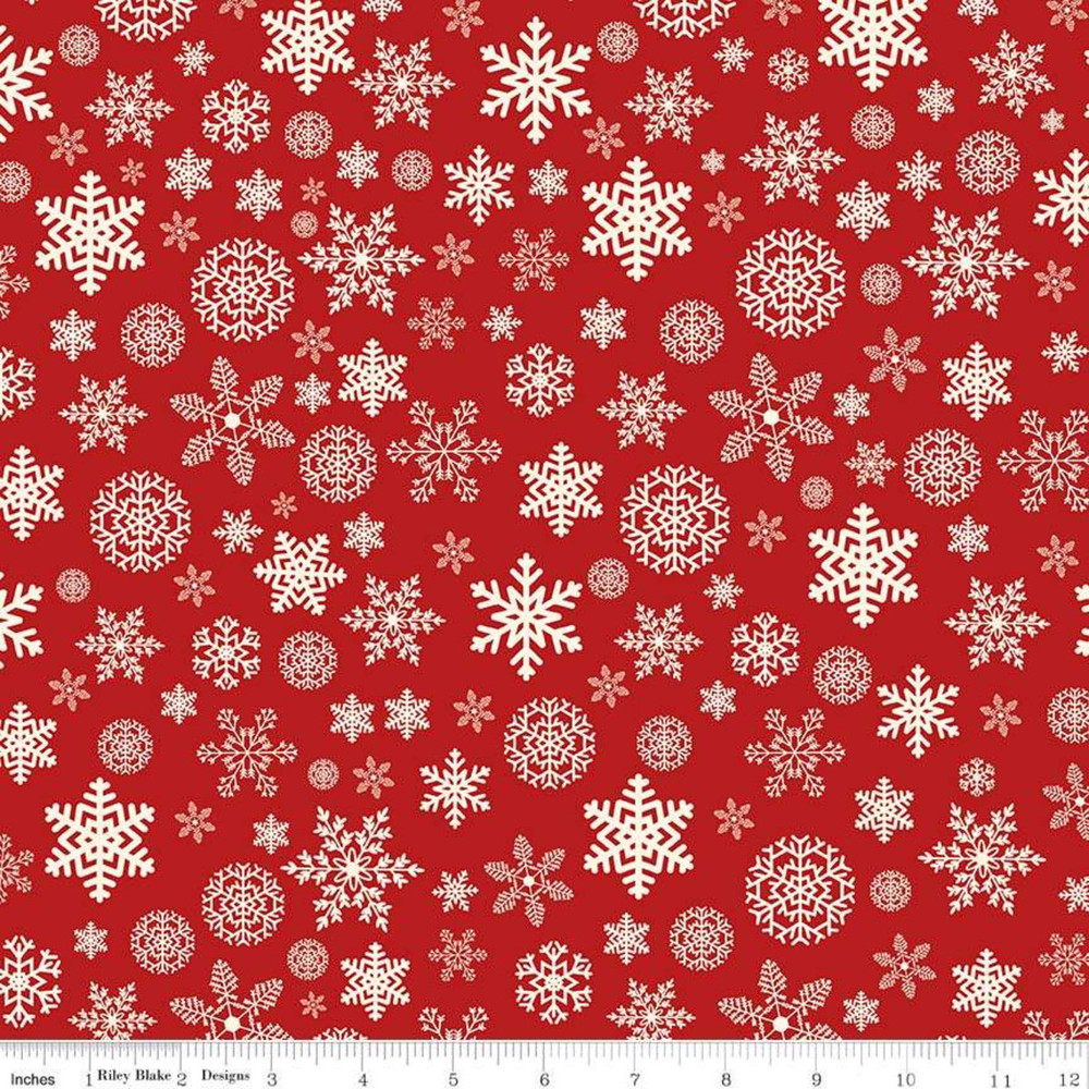 Christmas snowflakes flannel