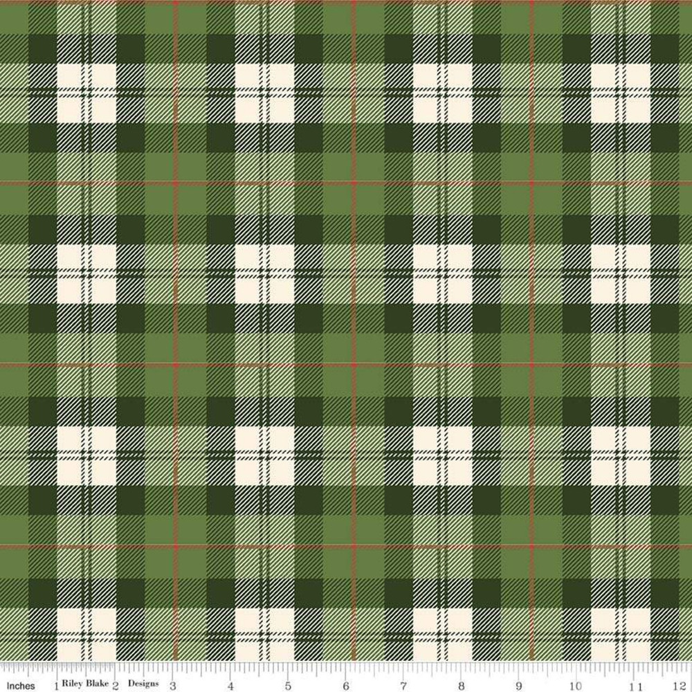 green and cream plaid flannel