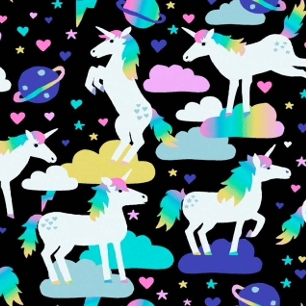 unicorns in space knit