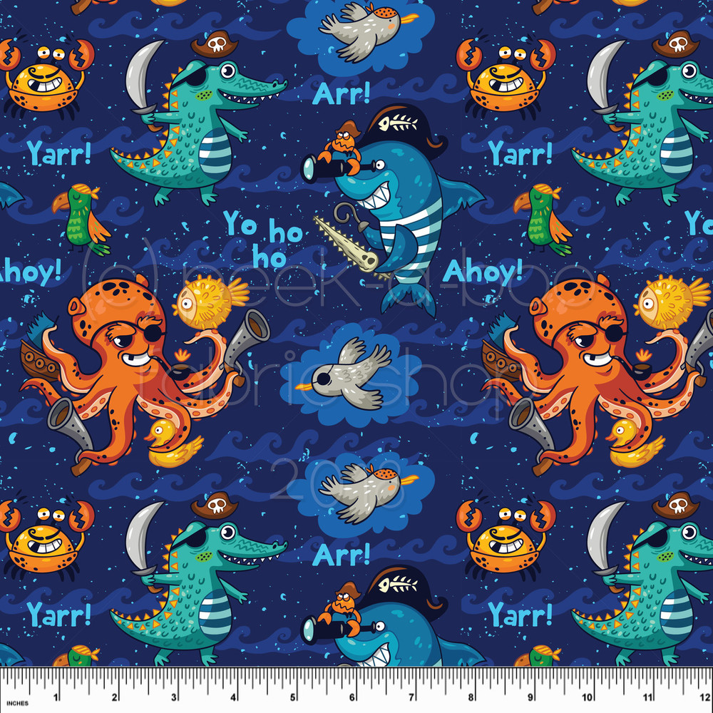 Swim Shop Let's Be Pirates Board Shorts Fabric