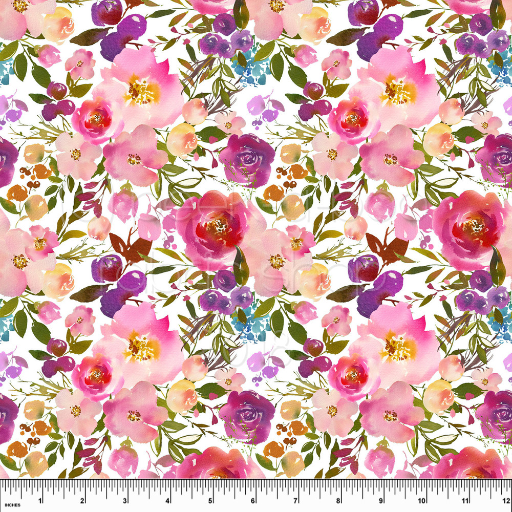 lush floral knit fabric