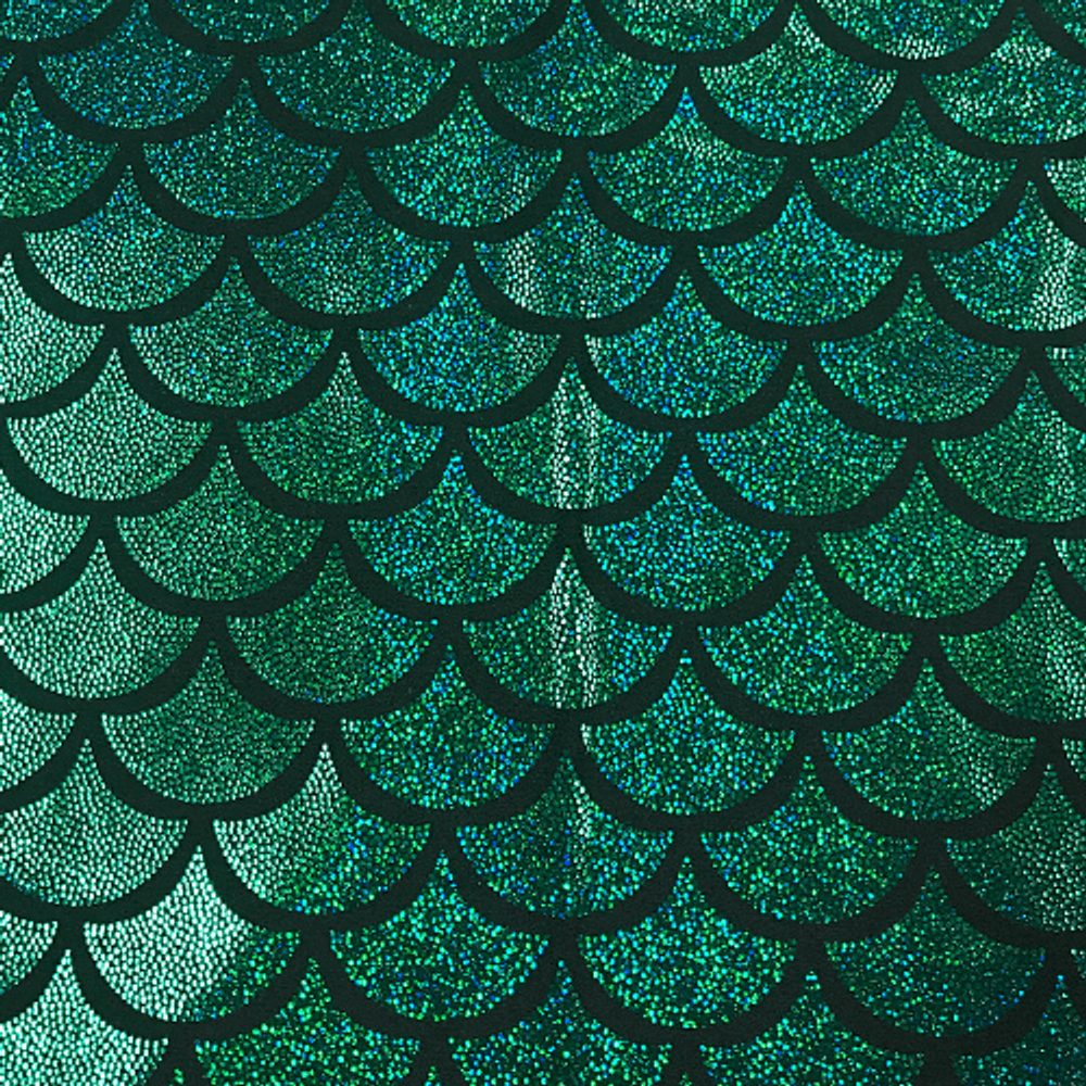 Mermaid Scales Sparkle in Green