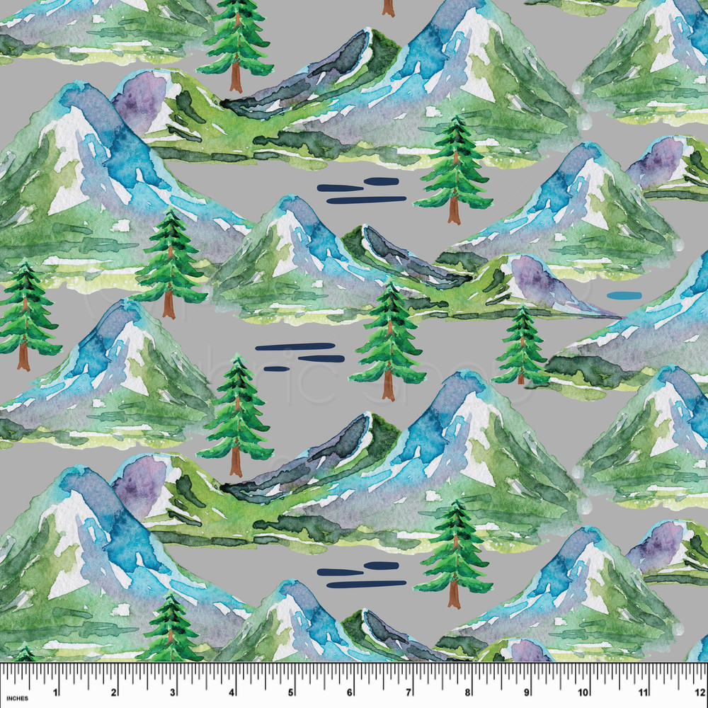 Mountains knit fabric