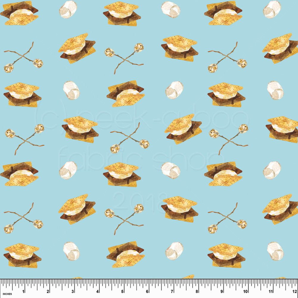 S'mores knit fabric