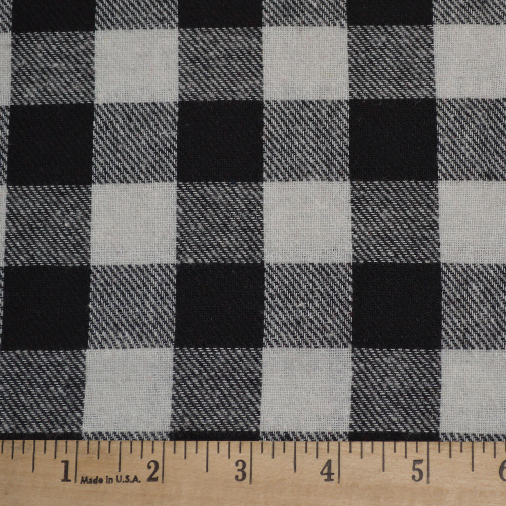 Apparel Basics White and Black Buffalo Plaid Flannel