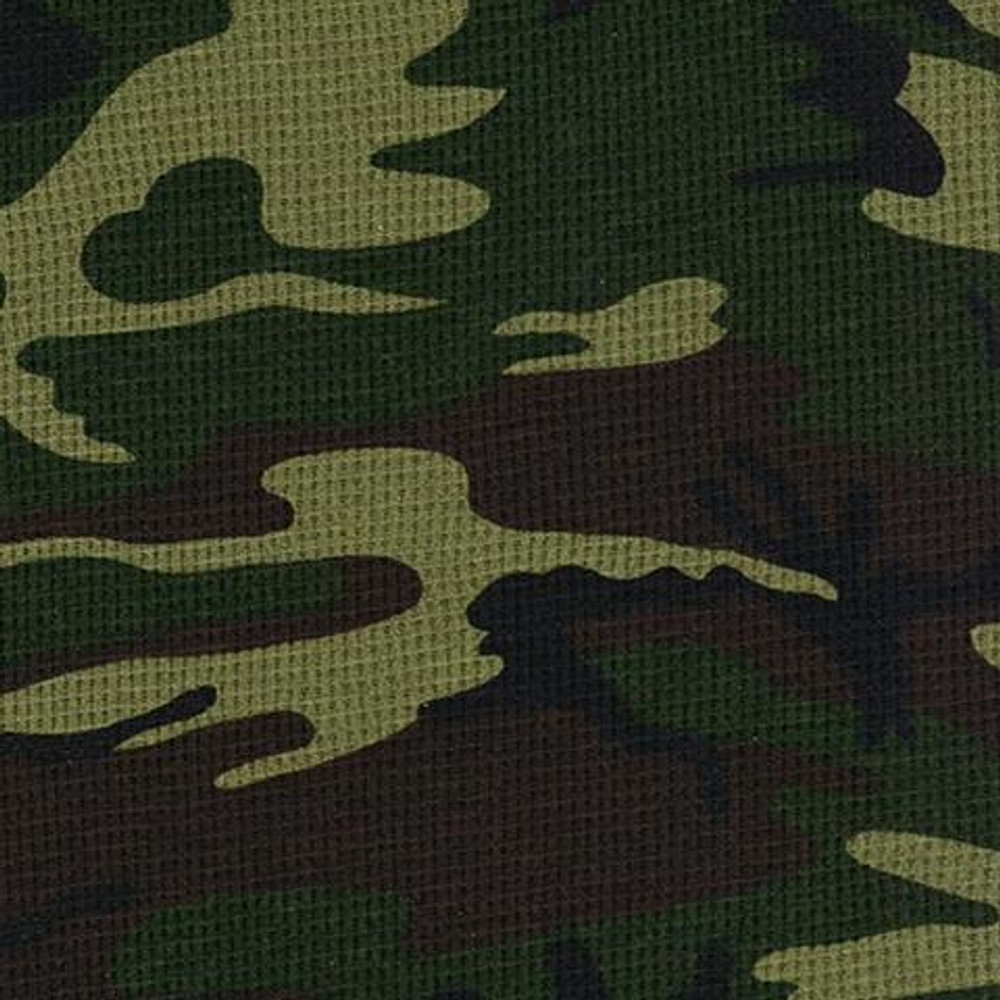 Camo Cotton Poly Thermal Knit
