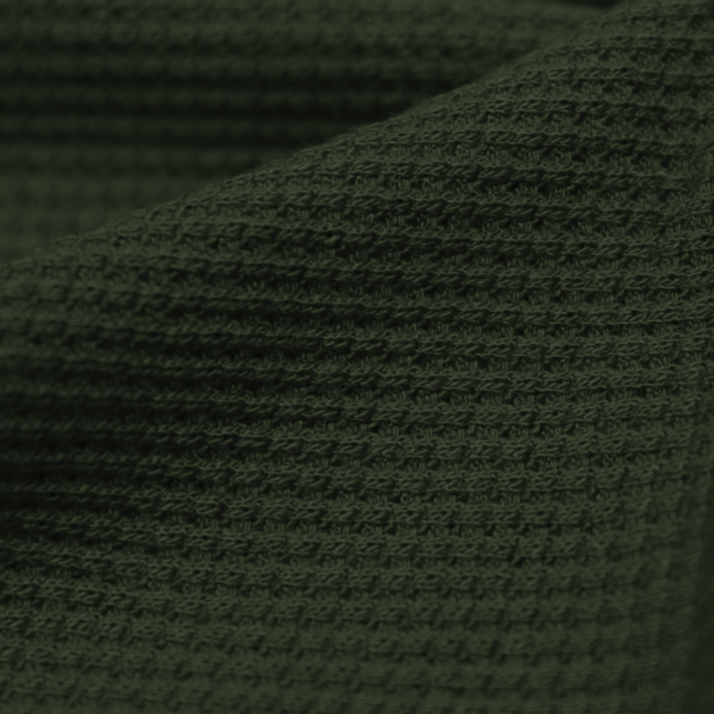 Olive Rayon Spandex Thermal Knit