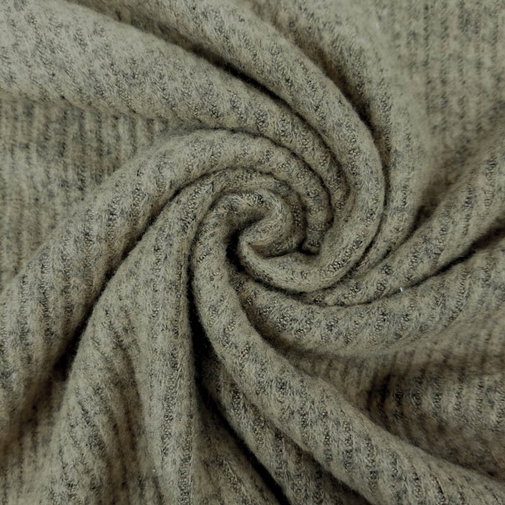 oatmeal brushed hacci rib knit