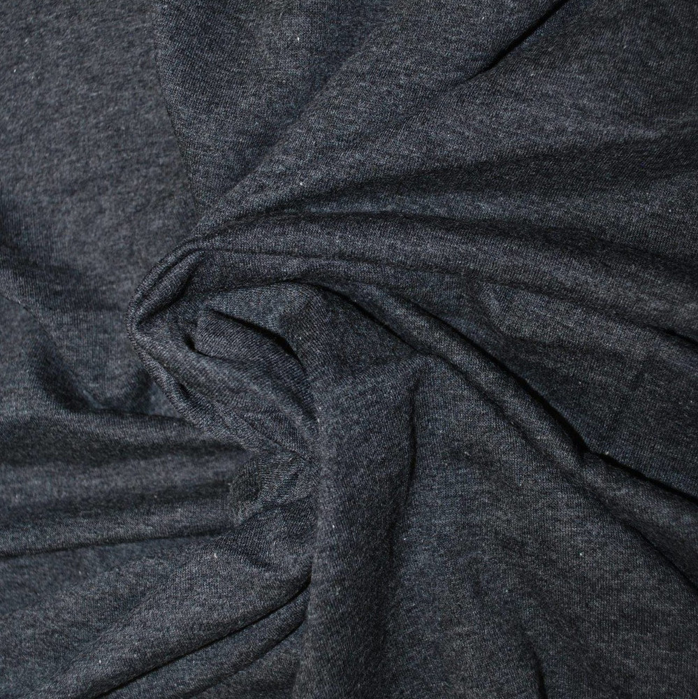 Charcoal Cotton Lycra French Terry Knit