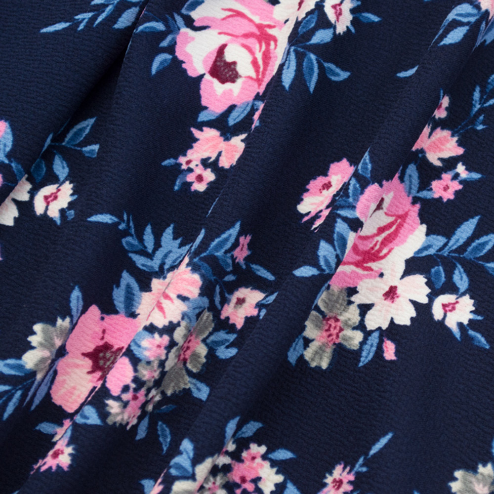 roses on navy