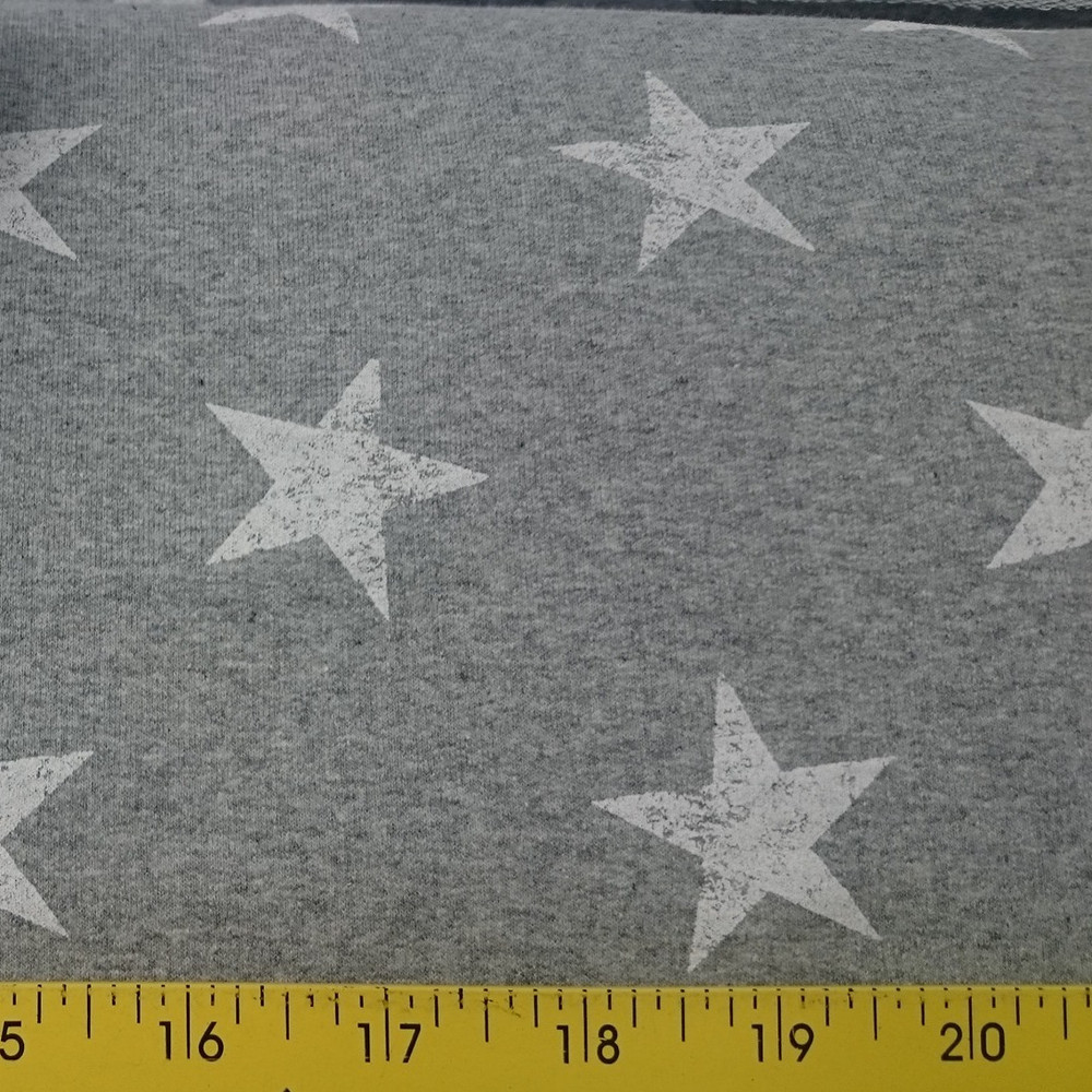 Stars on Gray  French Terry Knit