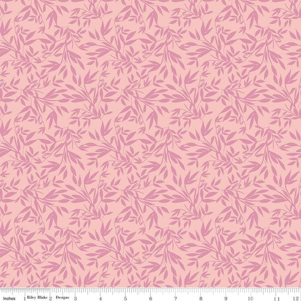 leaves in pink