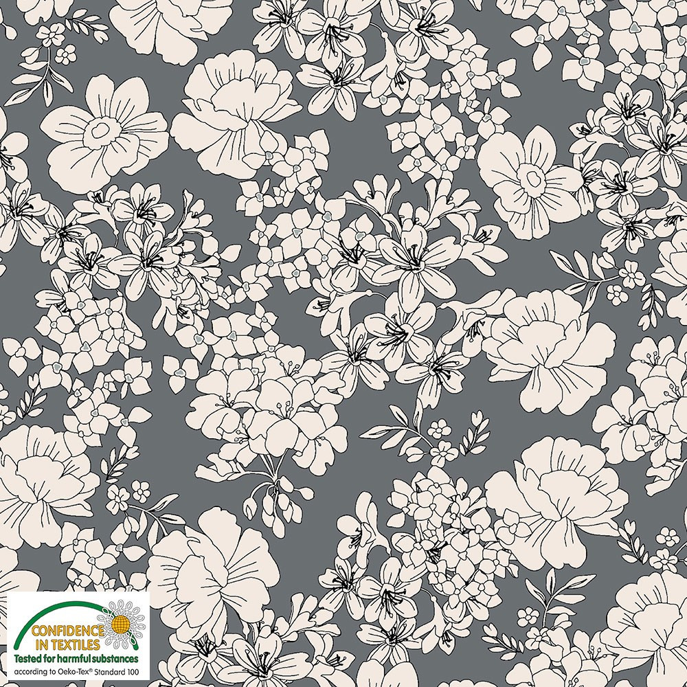 gray floral